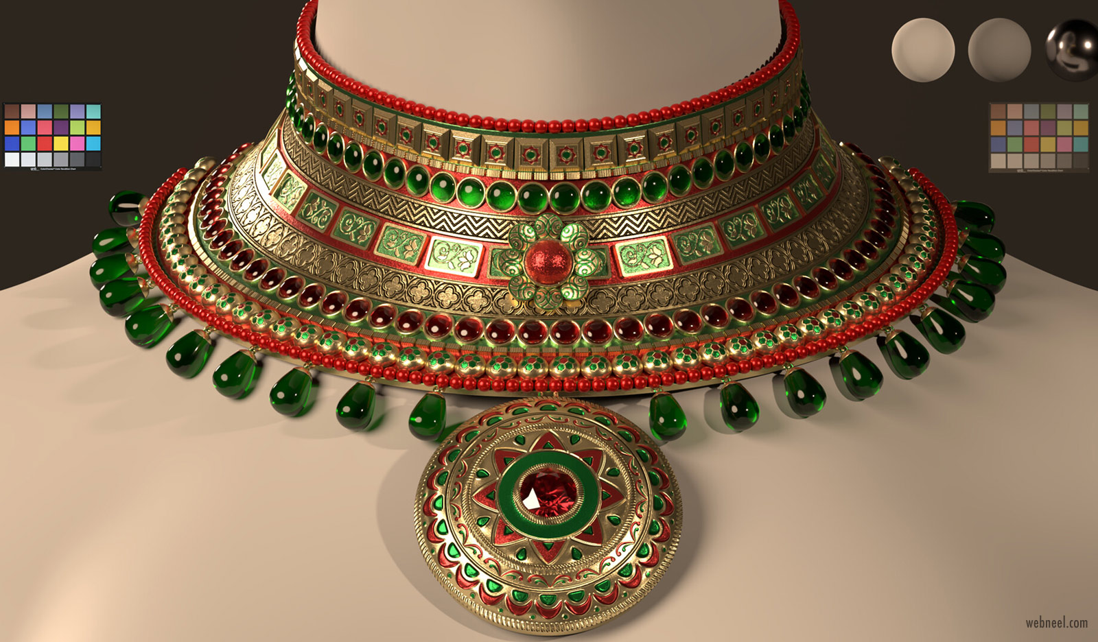 3d model indian jewels by rohan bhargava