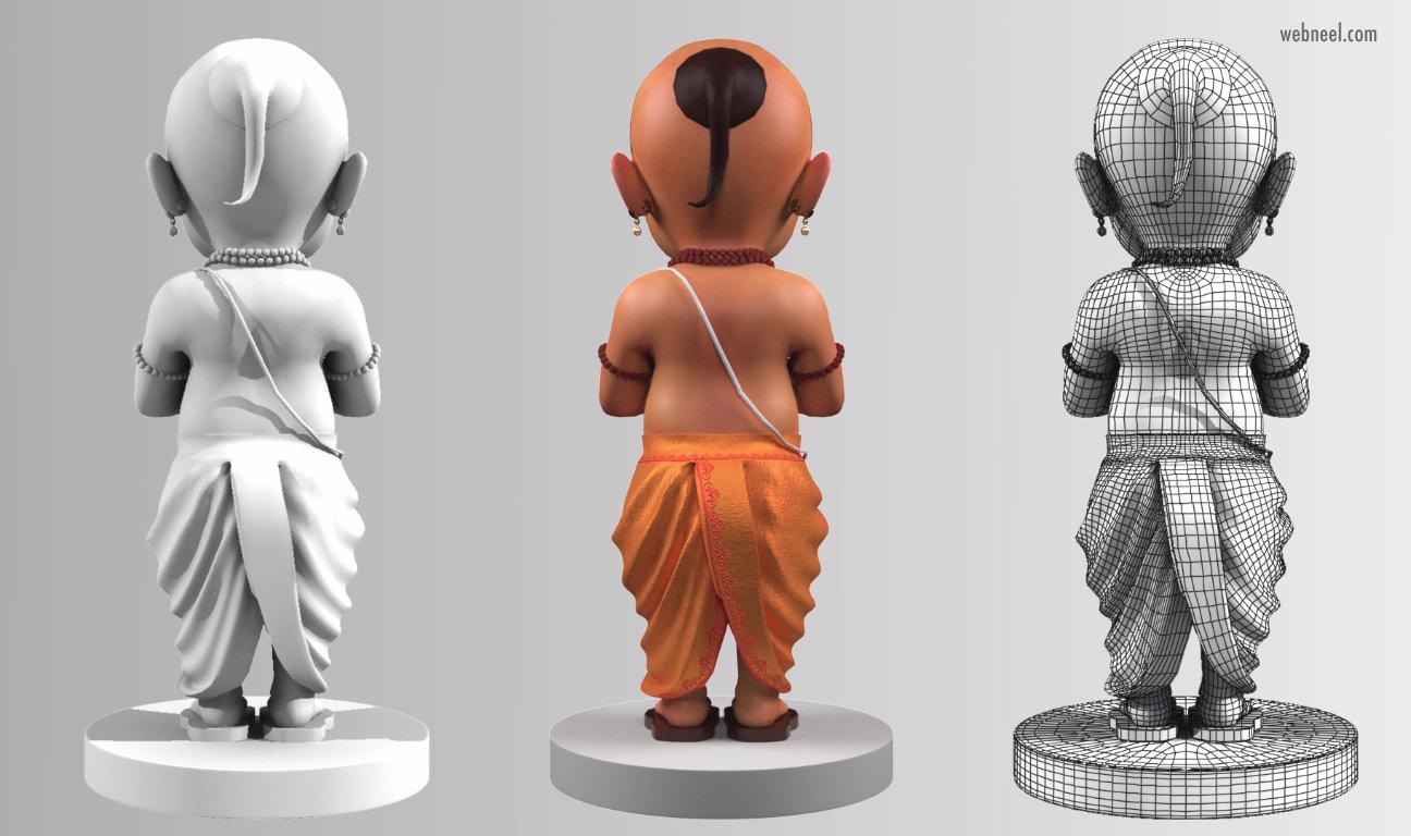 3d model indian sadhu