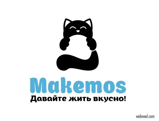cat logo design anastasia kurilenko