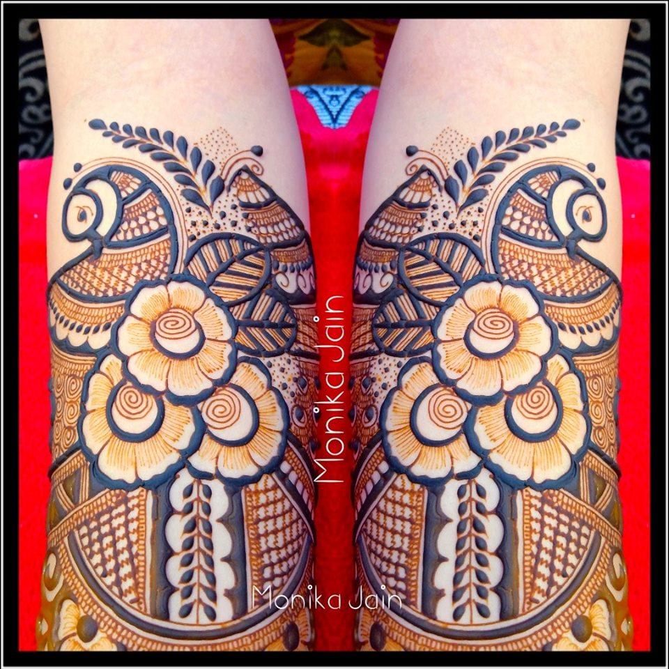 mehndi design art hand by monika