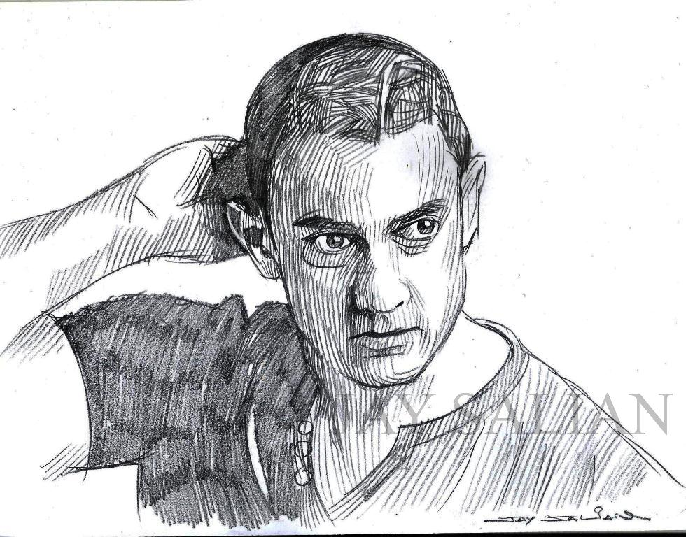 pencil drawing aamir khan indian actor by jaysalian