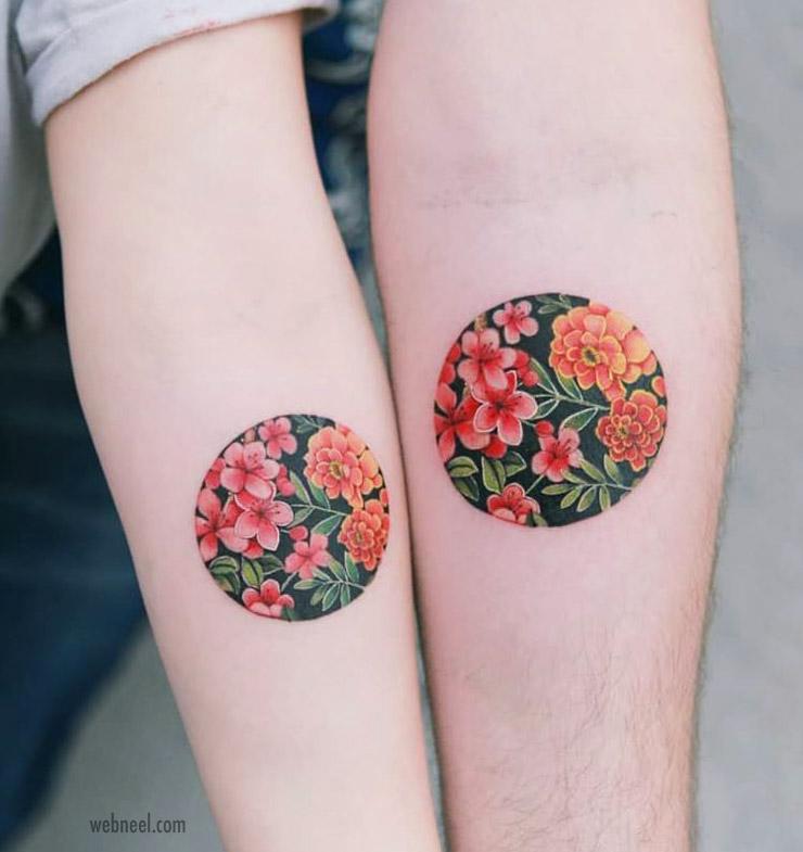 tattoo design flowers by tattooistsion