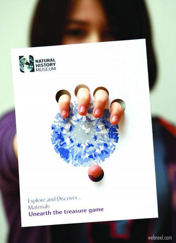 unusual brochure design gem idea