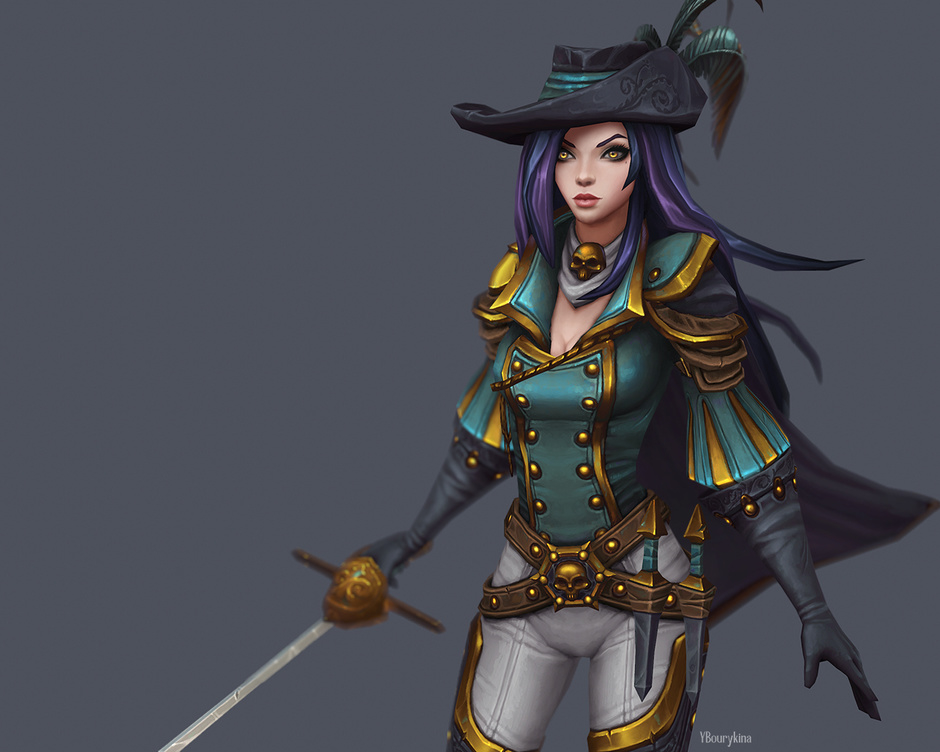 3d model musketeer by yekaterina bourykina