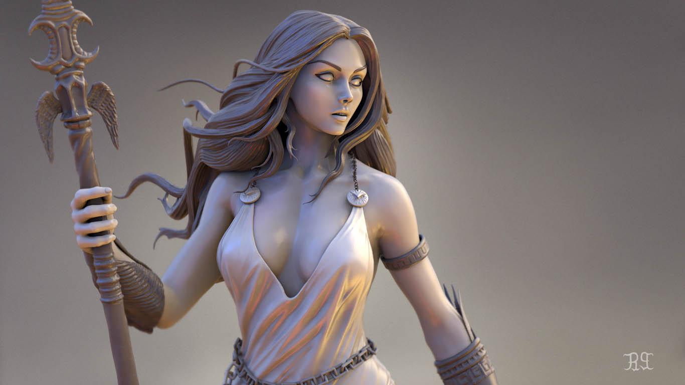 3d model athena goddess
