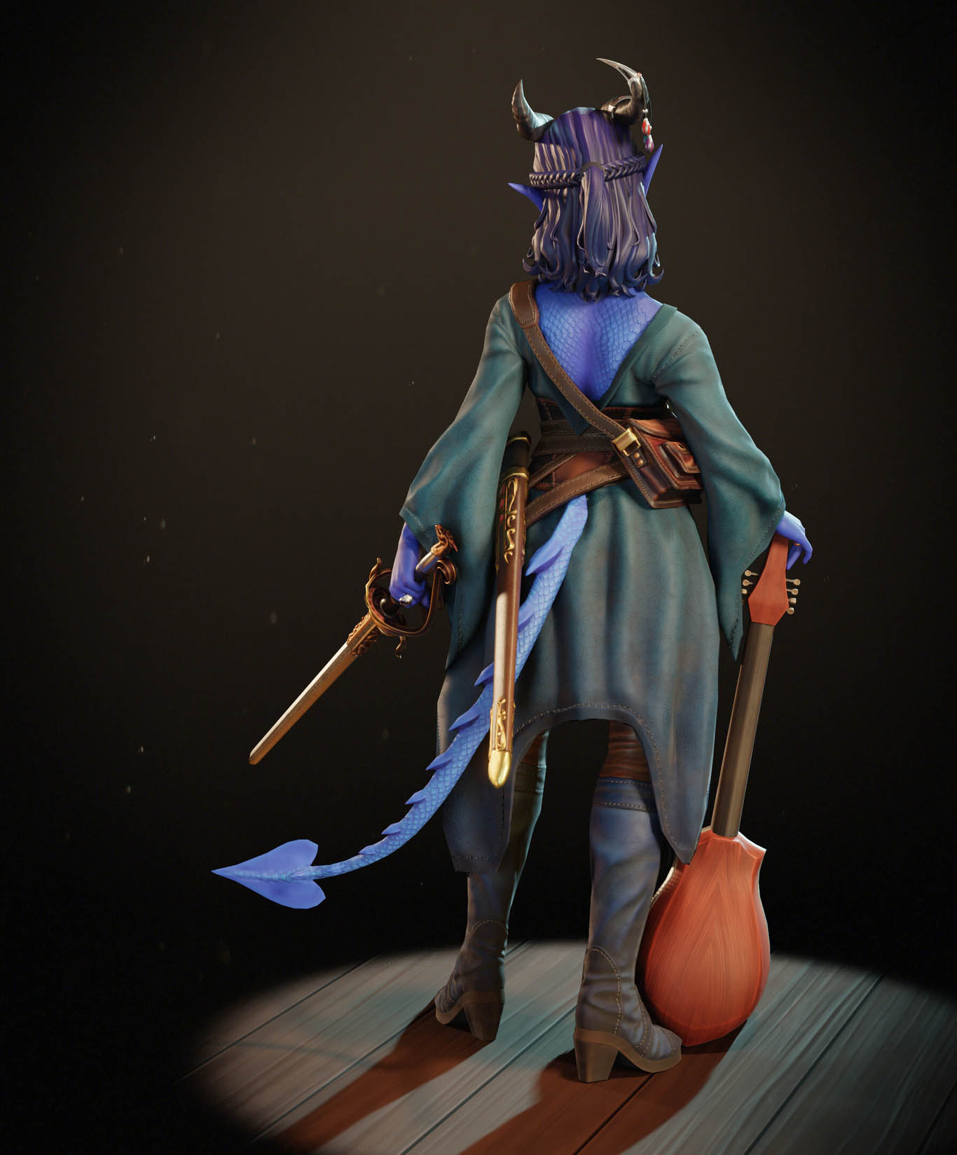 3d model lelliana the bard by leo varas