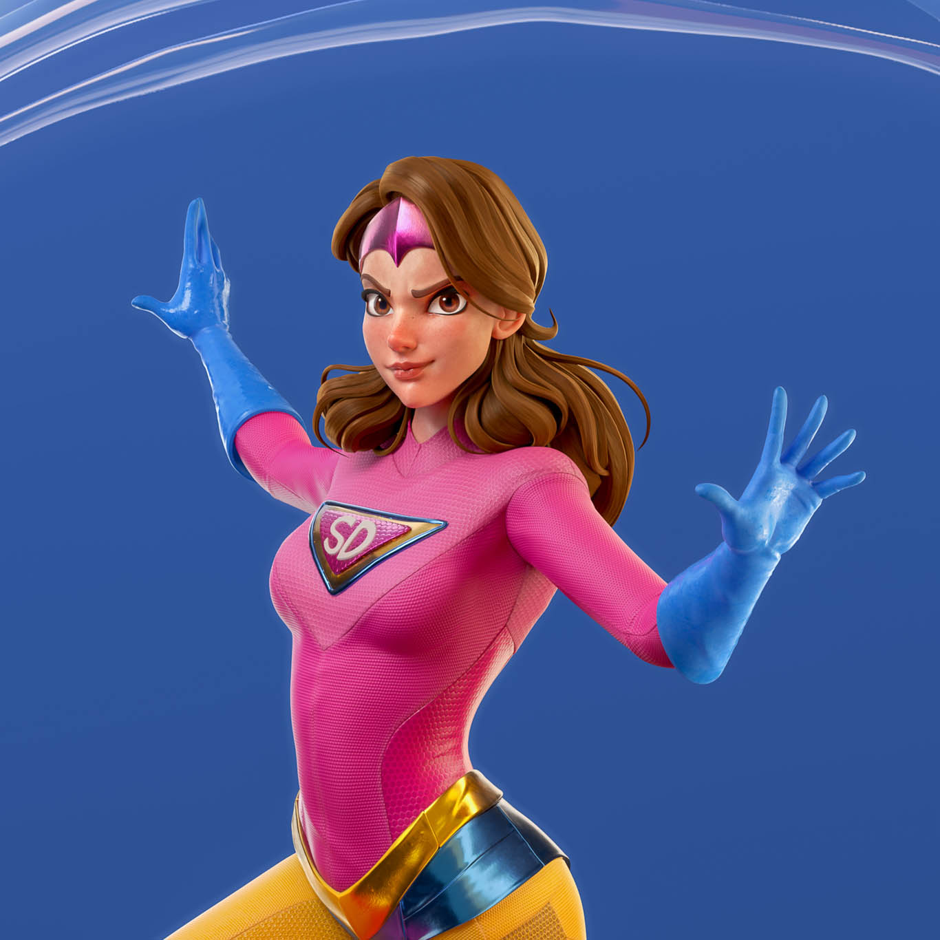 3d model super power girl