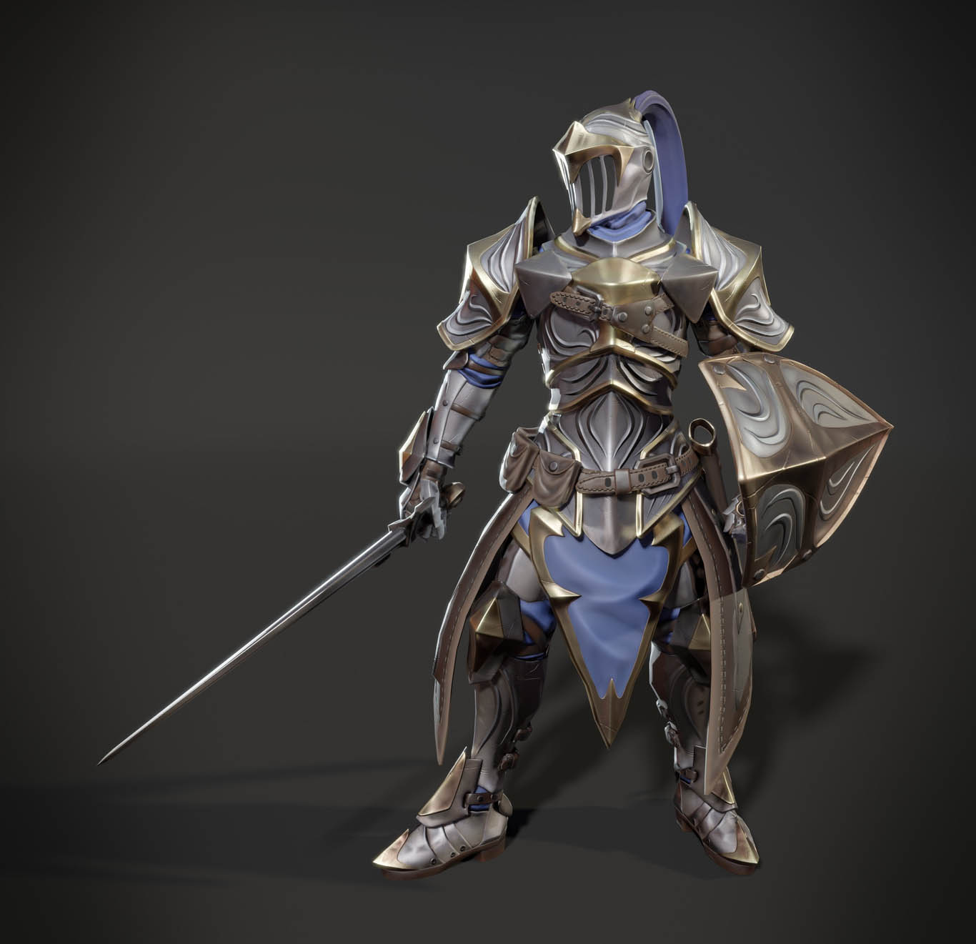3d model stylized knight game by leo varas