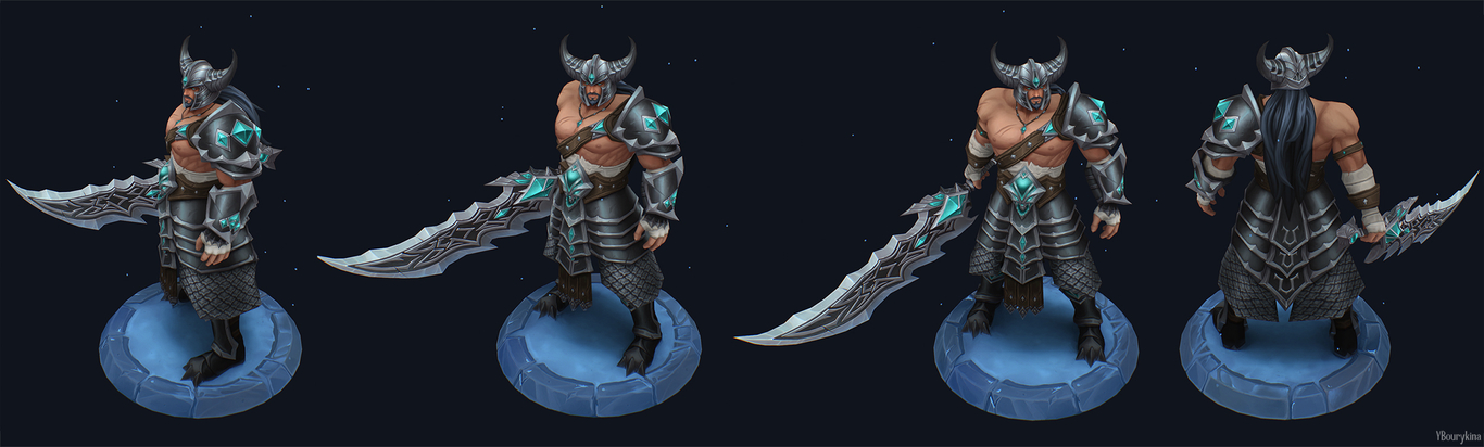 3d model tryndamere by yekaterina bourykina
