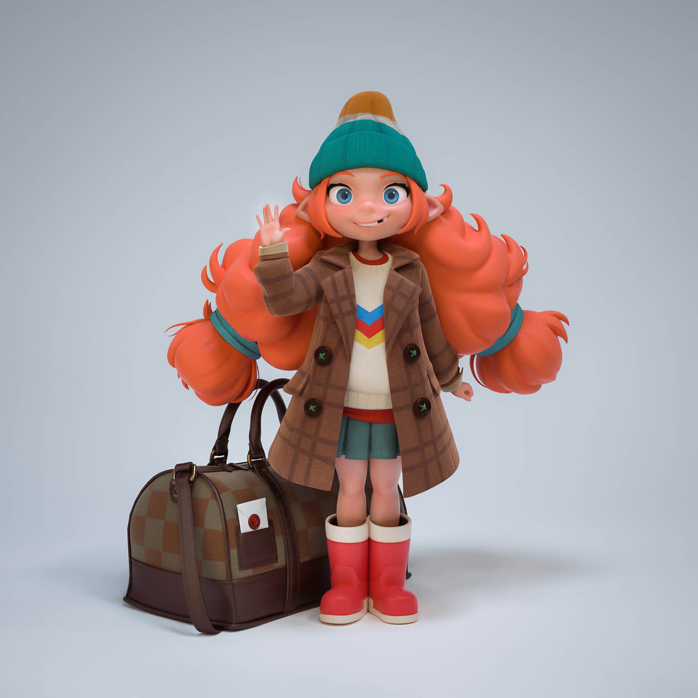 3d model little girl