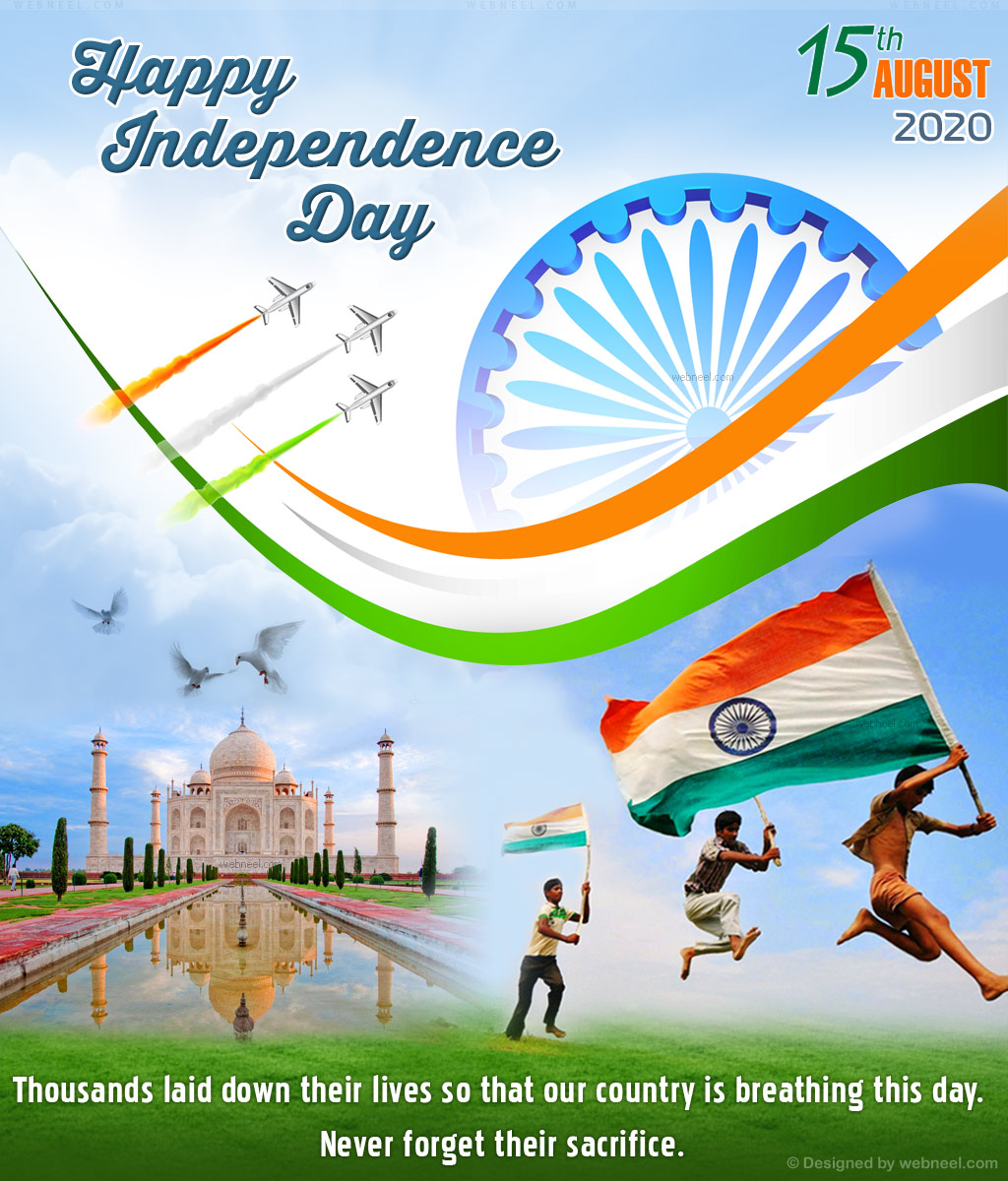 independence day greeting card design wishes 2020