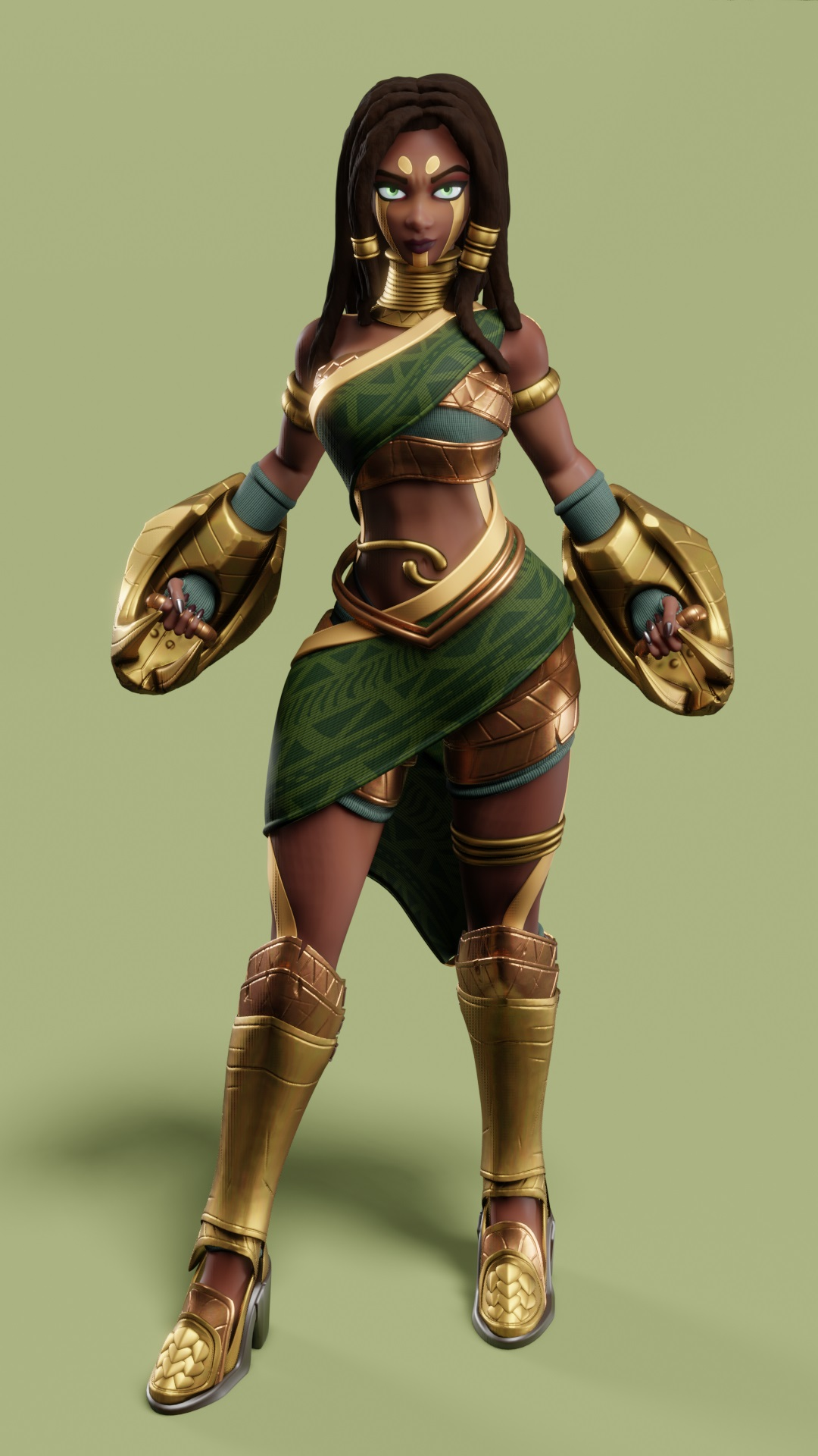 3d model ophidian priestess by leo varas
