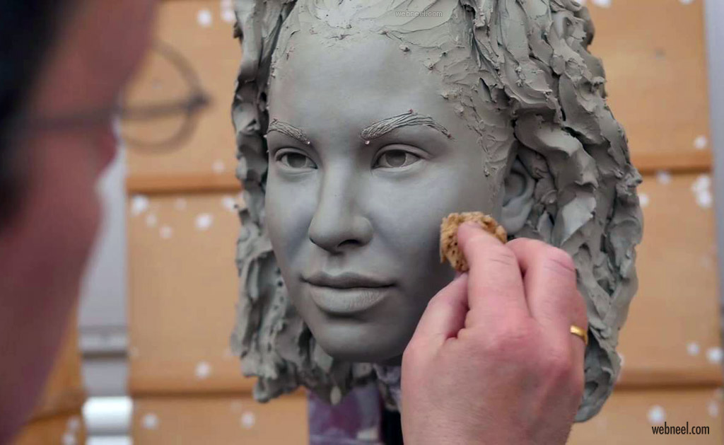 modeled sculpture selena wax by madame