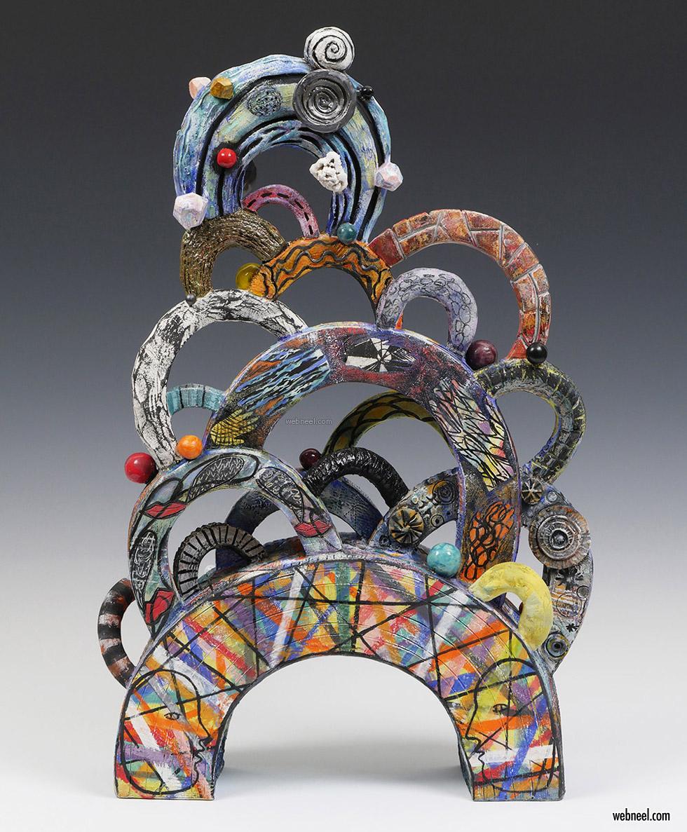 assembled sculpture bridging between