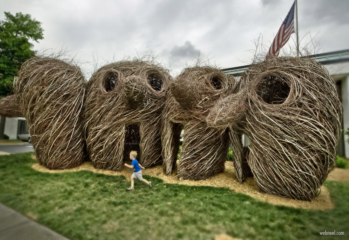 earthwork sculpture by patrick dougherty