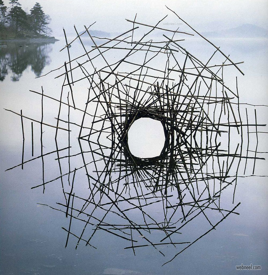 earthwork sculpture by andy goldsworthy