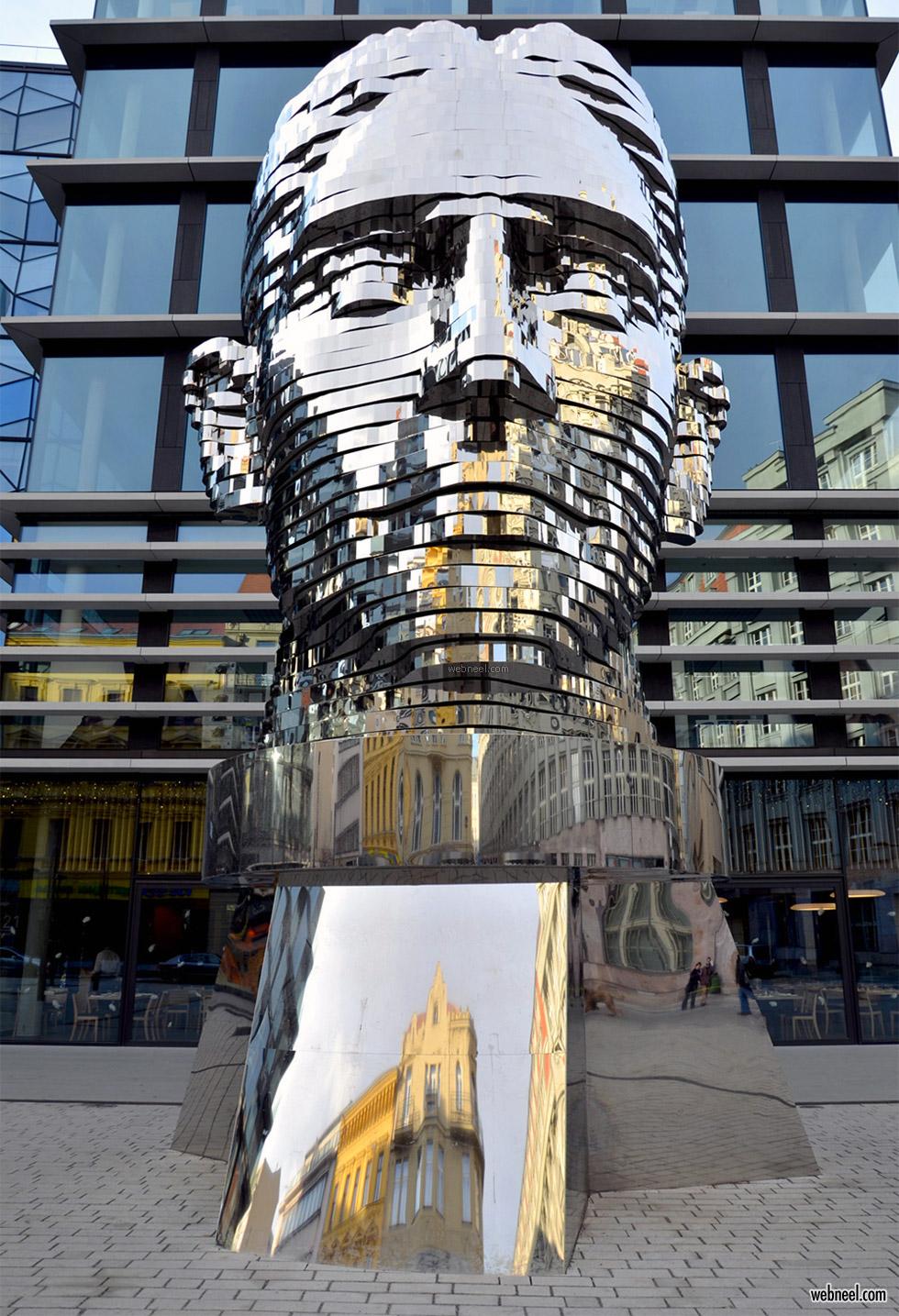 kinetic sculpture steel david cerny