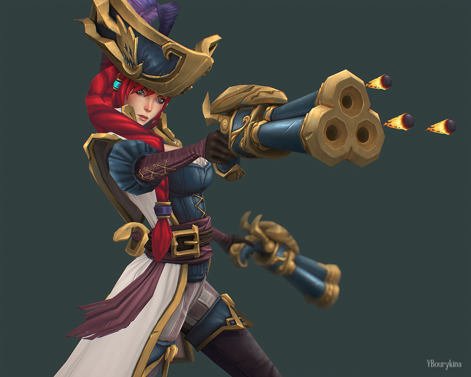 3d model captain fortune by yekaterina bourykina