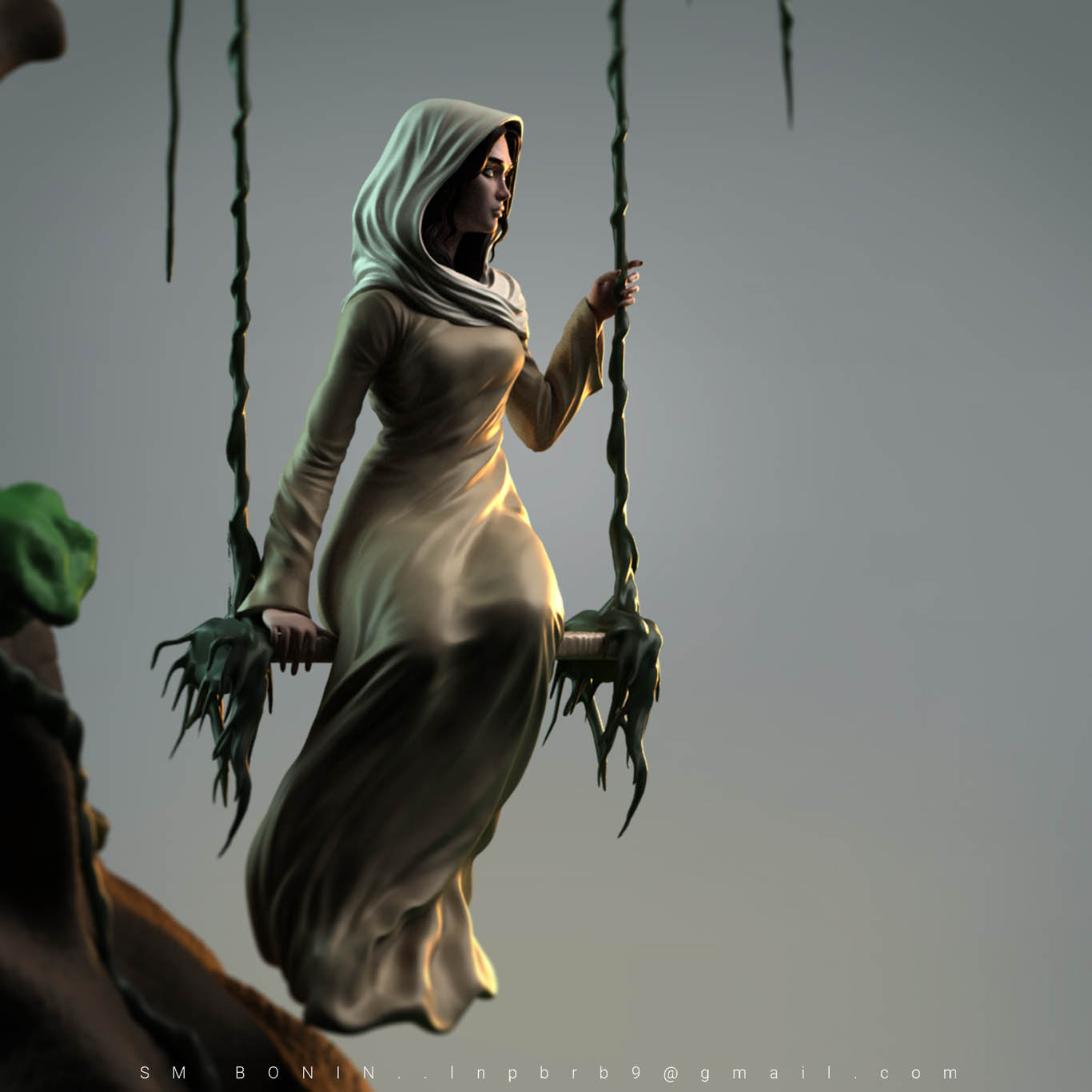 3d model swing lady