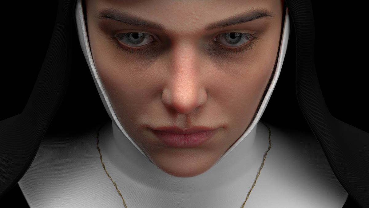 3d model nun