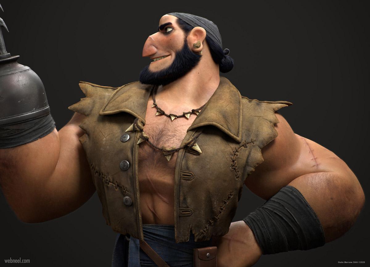 funny 3d model man tribal side giulio marrone dittli
