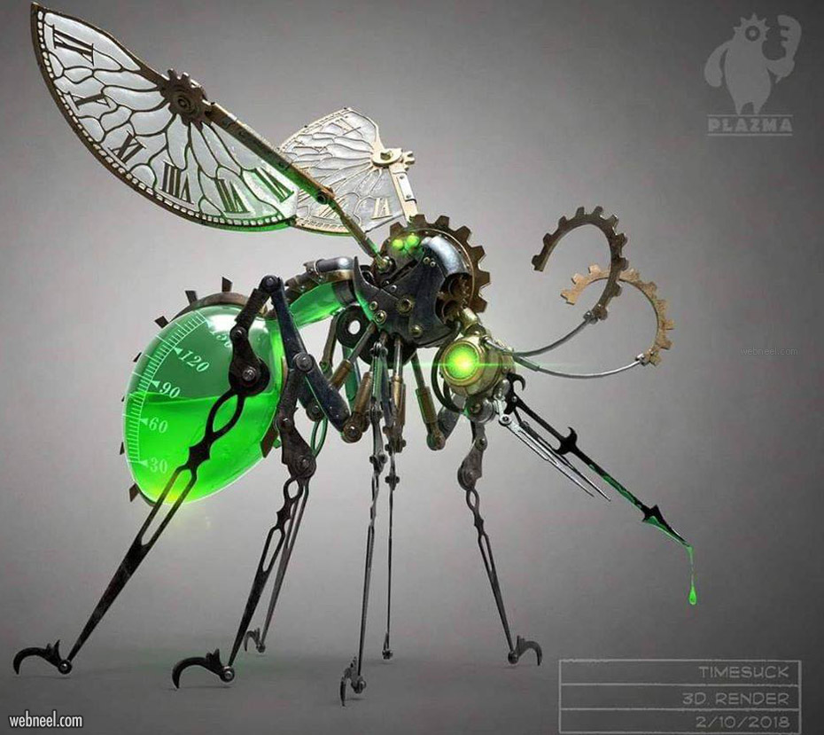 mosquito 3d model timesuck robot fly by christian johnson