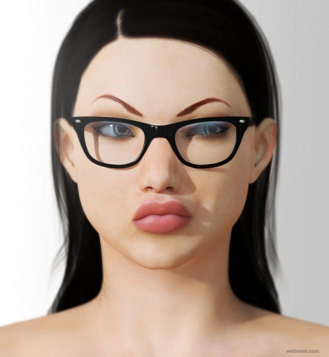 poser 3d models girls