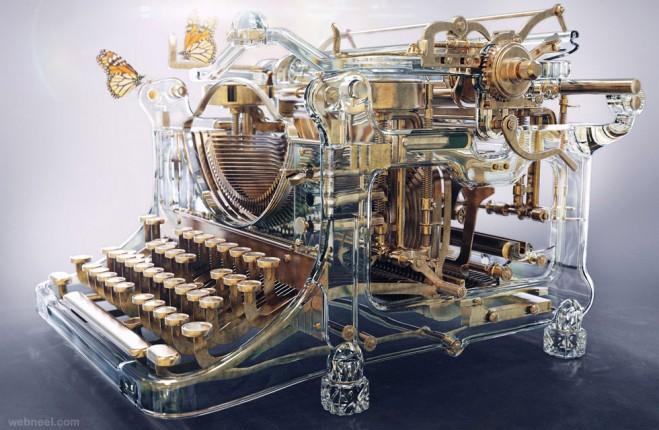 time machine type writer 3d model by aleksandr kuskov