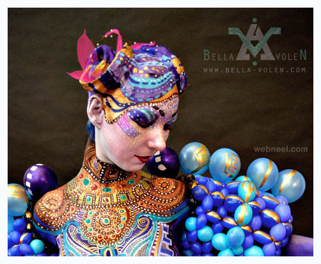 body painting baloon
