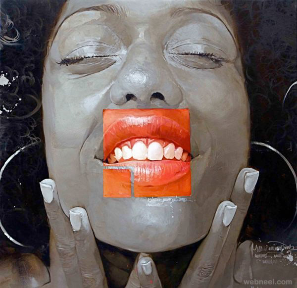 oil painting african by yunior hurtado