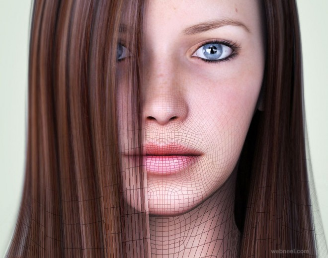 realistic 3d model by saphire nishi