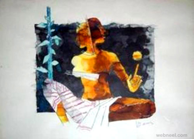 ardh nareshwar mf husain painting