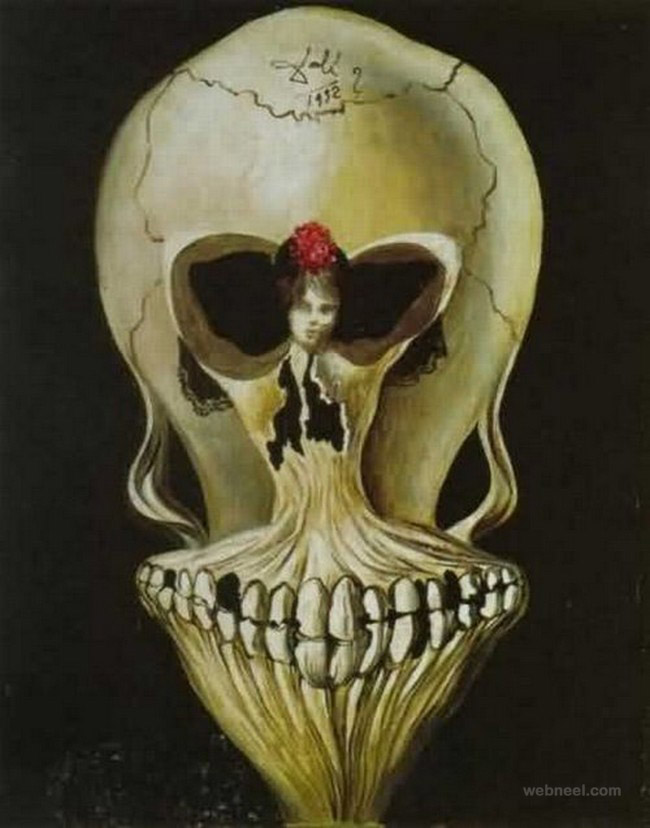 optical illusion paintings by salvador dali