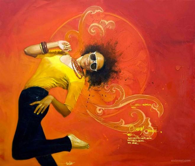 oil painting by yunior hurtado