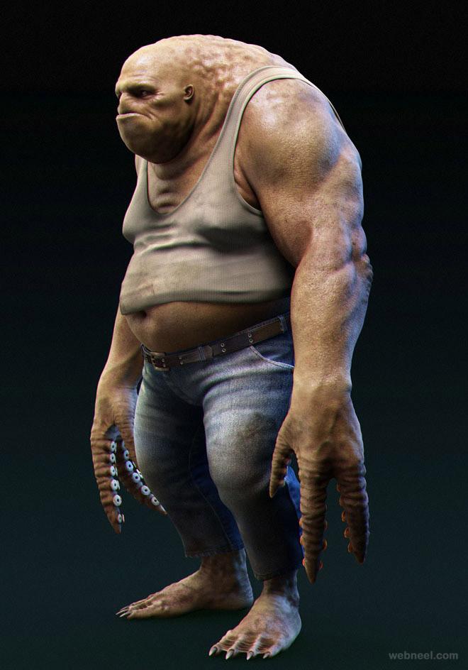 3d monster model by jason