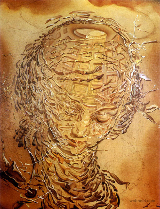 head exploding paintings by salvador dali