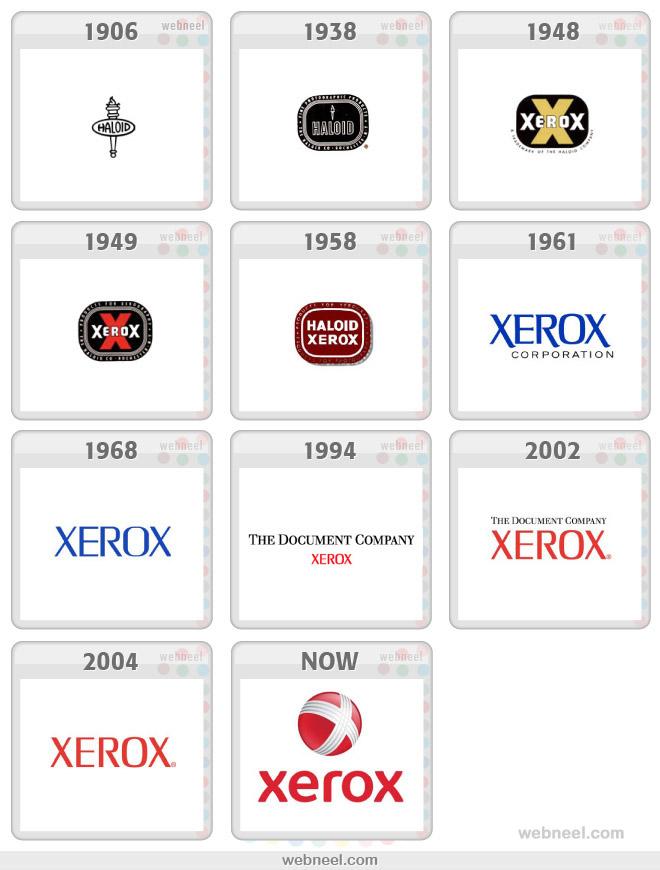 xerox logo evolution history