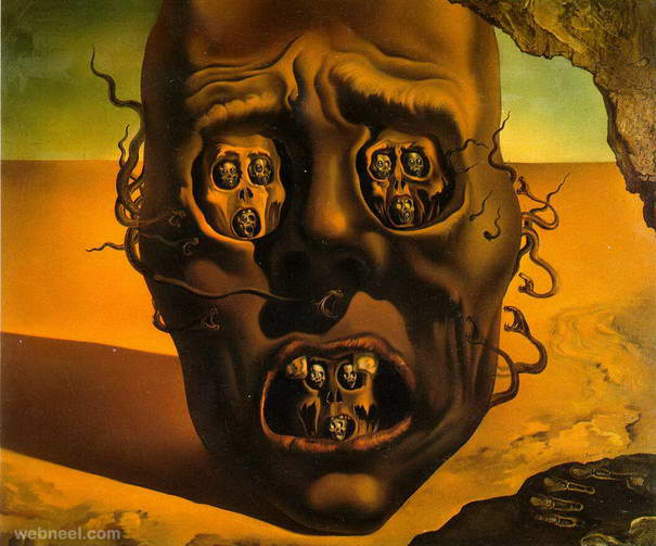 the face of war paintings by salvador dali