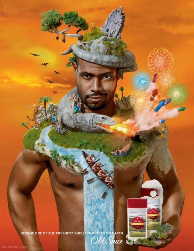 ads photo manipulation old spice