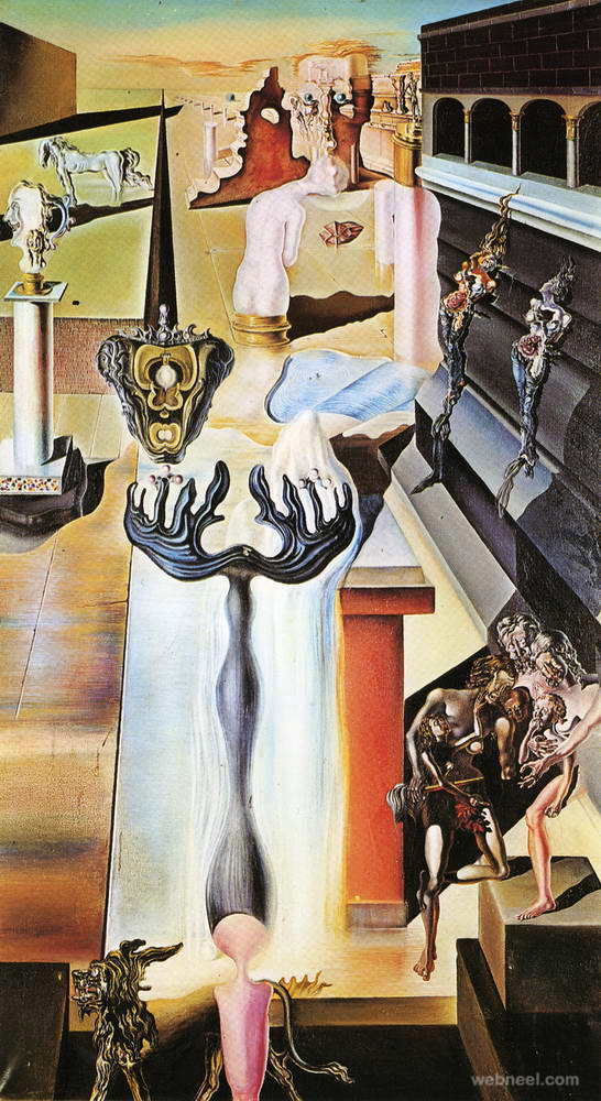 invisible man surreal paintings by salvador dali