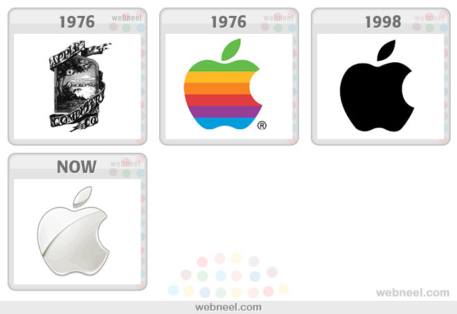 apple logo evolution history