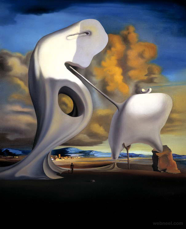 millet architectonic surreal paintings by salvador dali
