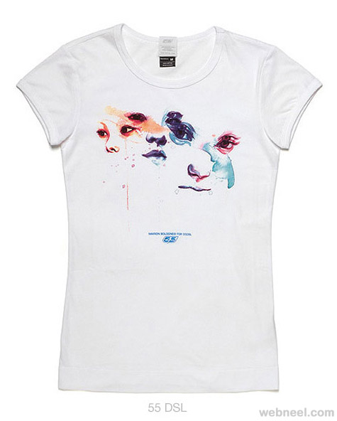 tshirt water color painting by marion bolognesi
