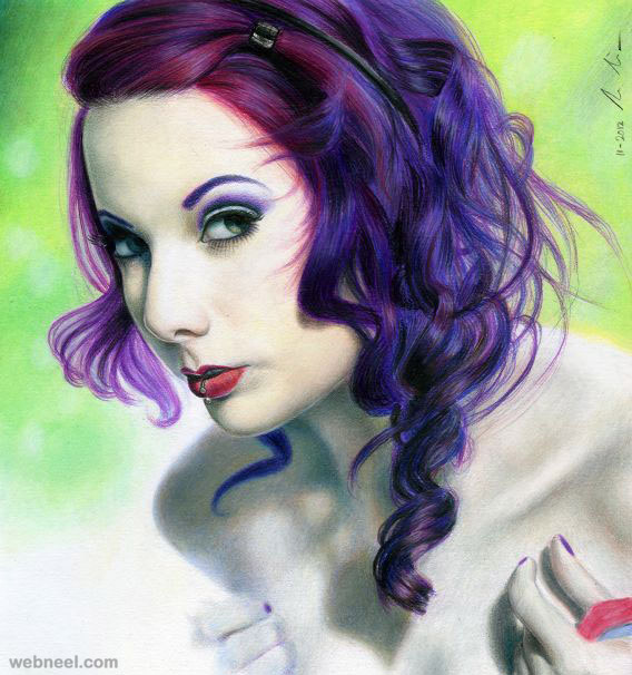 neila color pencil drawing by lman