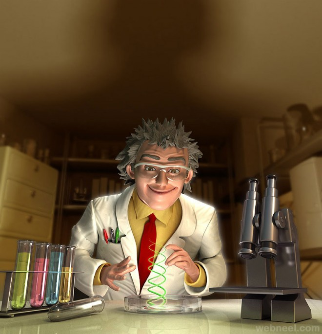 3d scientist character by mattroussel