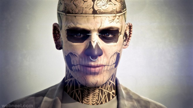 3d zombie character by habas