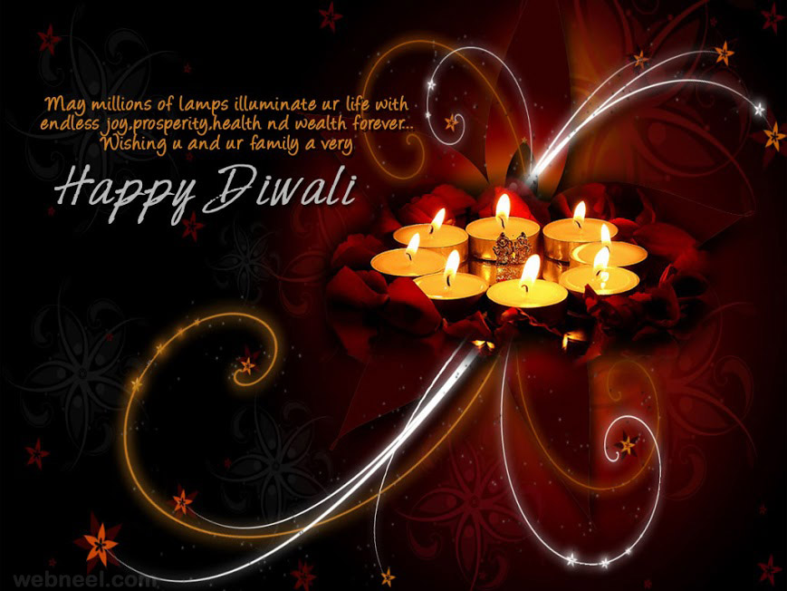 diwali wishes greeting card