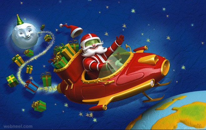 3d christmas character by mattroussel