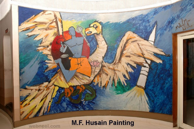 god mf husain painting