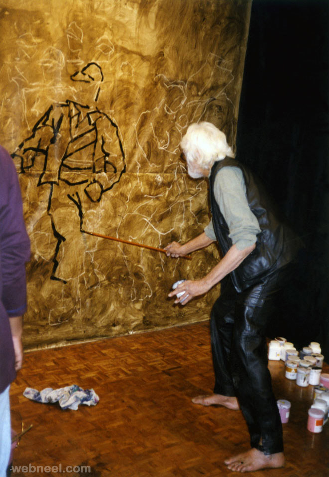 creative mf husain painting